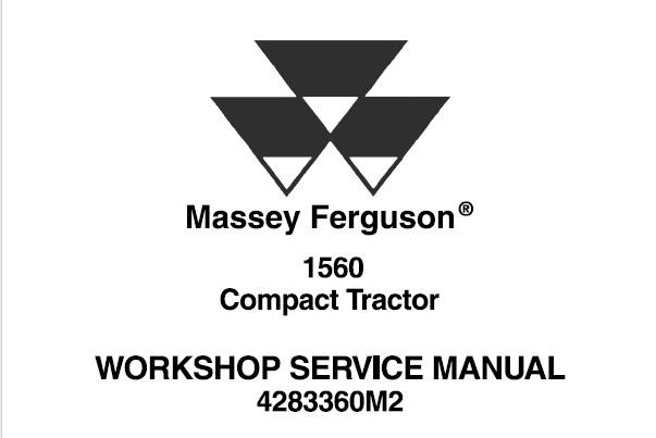 Massey Ferguson 1560 Compact Tractor Workshop Service