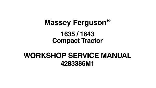 Massey Ferguson 1635 & 1643 Compact Tractor Workshop