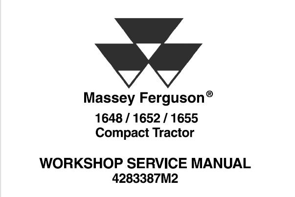 Massey Ferguson 1648 / 1652 / 1655 Compact Tractors