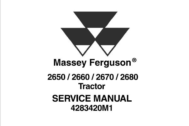 Massey Ferguson 2650, 2660, 2670, 2680 Tractors Workshop