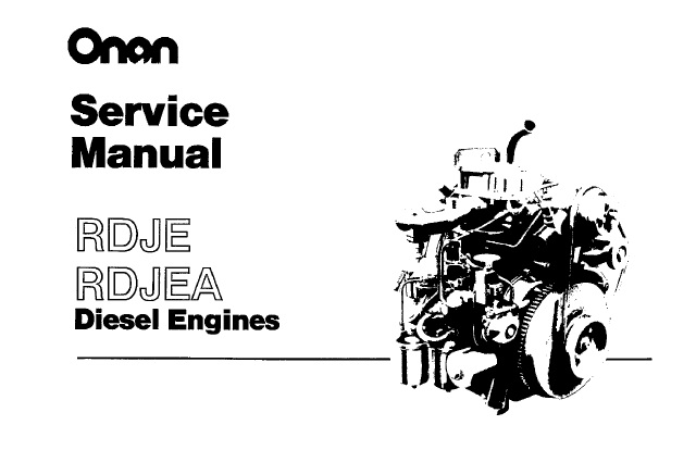 Onan RDJE, RDJEA Diesel Engines Service Repair Manual