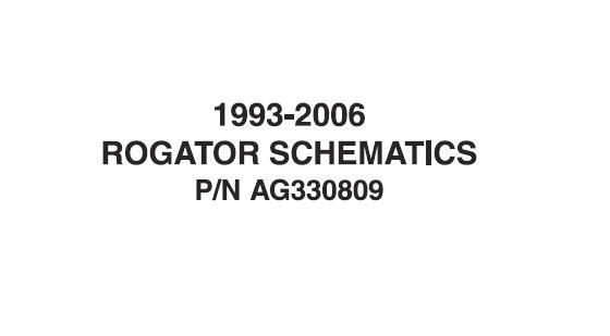 1993-2006 Agco Rogator Schematics Manual