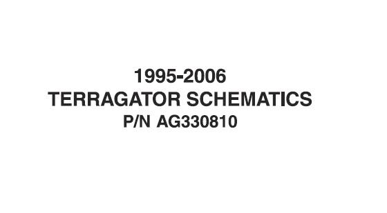 1995-2006 Agco Terragator Schematics Manual