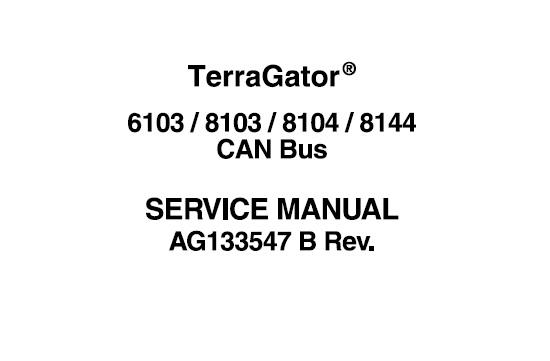 Agco Ag-Chem Terra-Gator 6103 , 8103 , 8104 , 8144 CAN Bus
