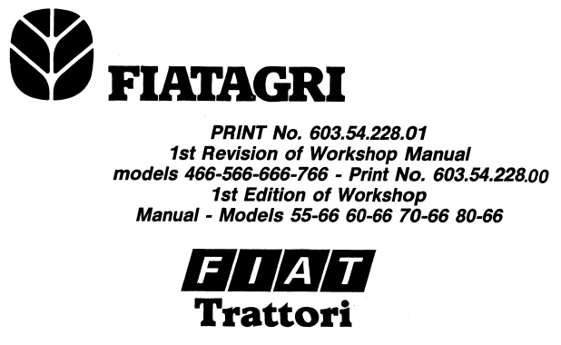 Fiat Trattori 466 – 566 – 666