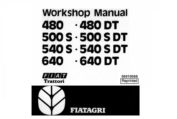 Fiat Trattori 480 , 480DT , 500S , 500SDT , 540S , 540SDT