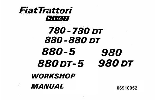 Fiat Trattori 780 , 780DT , 880 , 880DT , 880-5 , 880DT-5