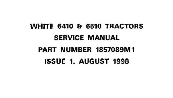 White 6410 , 6510 Tractors Service Repair Manual
