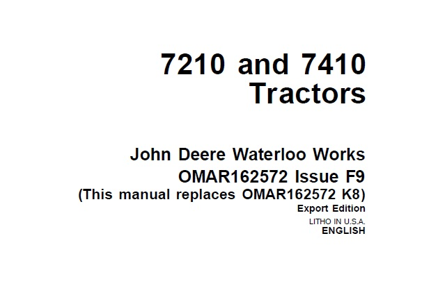 John Deere 7210 and 7410 Tractors Operator's Manual