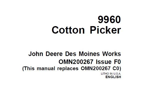 John Deere 9960 Cotton Picker Operator's Manual