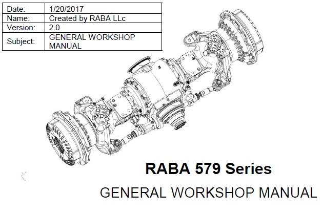RABA 579 Series General Workshop Manual
