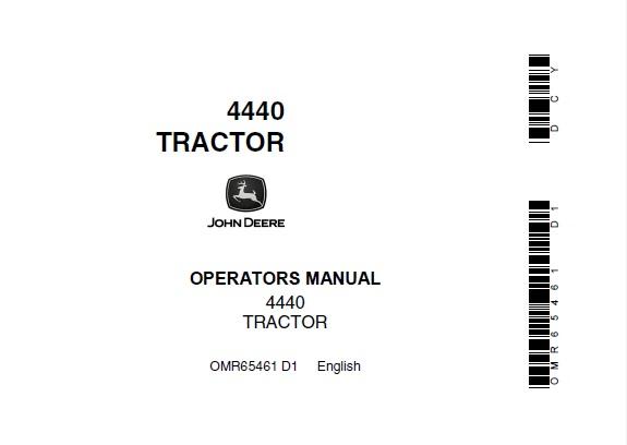 John Deere 4440 Tractor Operator's Manual