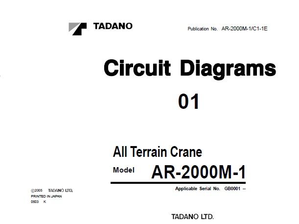 Tadano AR-2000M-1 All Terrain Crane Circuit Manual