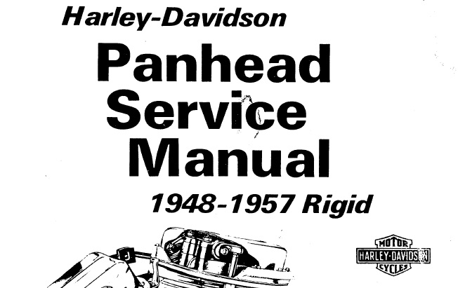 1948-1957 Harley-Davidson Rigid Panhead Service Repair