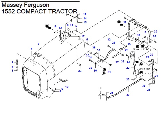 Massey Ferguson 1552 Compact Tractor Parts Manual
