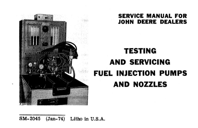 John Deere Fuel Injection Pumps and Nozzles Testing and