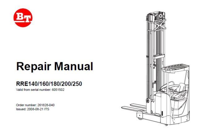 BT RRE140, RRE160, RRE180, RRE200, RRE250 Forklift Service