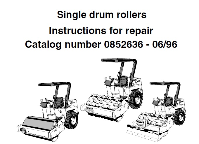 Bomag BW124D, BW124PD, BW124PDB Single Drum Rollers