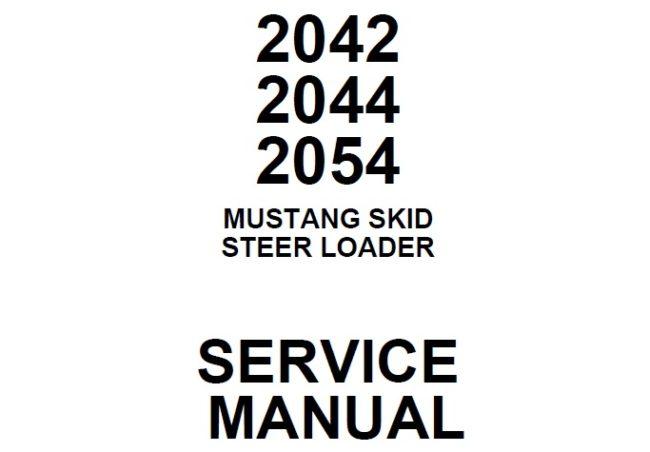 Mustang 2042, 2044, 2054 Sikd Steer Loader Service Repair