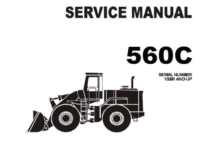Komatsu 560C Wheel Loader Service Repair Manual (SN 15001