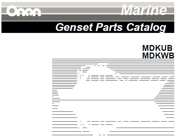 Cummins Onan MDKUB, MDKWB (Spec A-F) Marine Generator Set