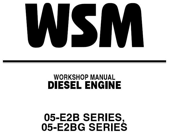 Kubota 05-E2B SERIES, 05-E2BG SERIES Diesel Engine Service