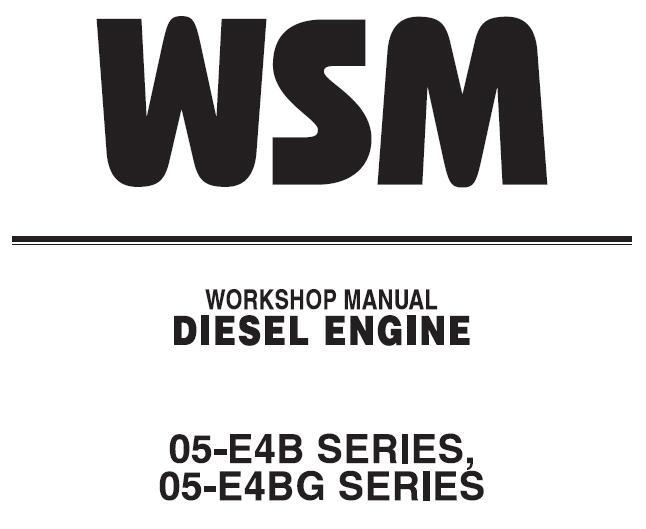 Kubota 05-E4B Series, 05-E4BG Series Diesel Engine Service