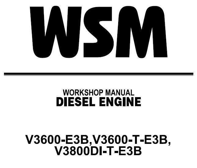Kubota V3000-E3B, V3000-T-E3B, V3000DI-T-E3B Diesel Engnie