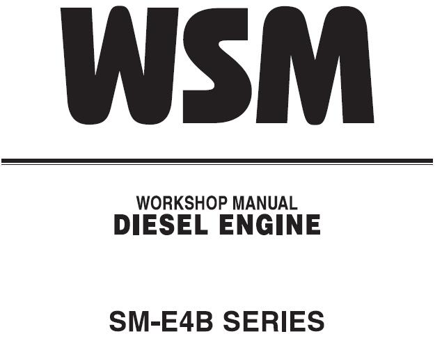 Kubota SM-E4B Series Diesel Engine Service Repair Manual