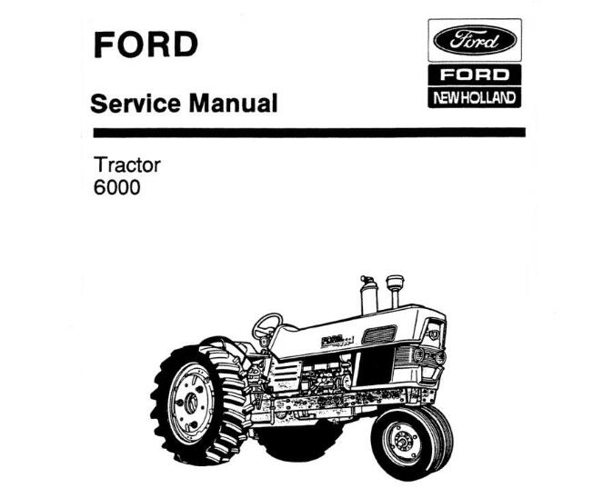 Ford New Holland 6000 Tractor Service Repair Manual