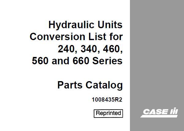 Case IH Hydraulic Units Conversion List Parts Catalog