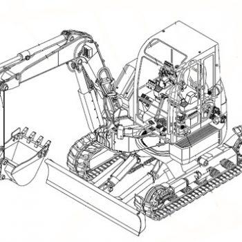 ™️ Takeuchi TB240 WETB240_G-XA Mini Excavator Service