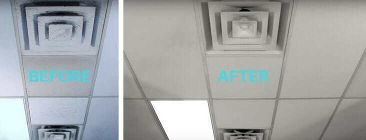 how to clean ceiling tiles in the
