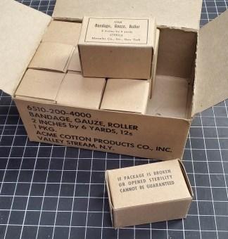 Vintage Military Medical Bandages
