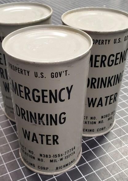 Emergency Drinking Water Cans, Original Militaria