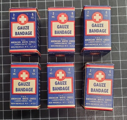 The American White Cross Laboratories, Inc. Bandages.