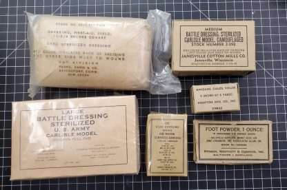 Lot of original WWII and Military Bandages