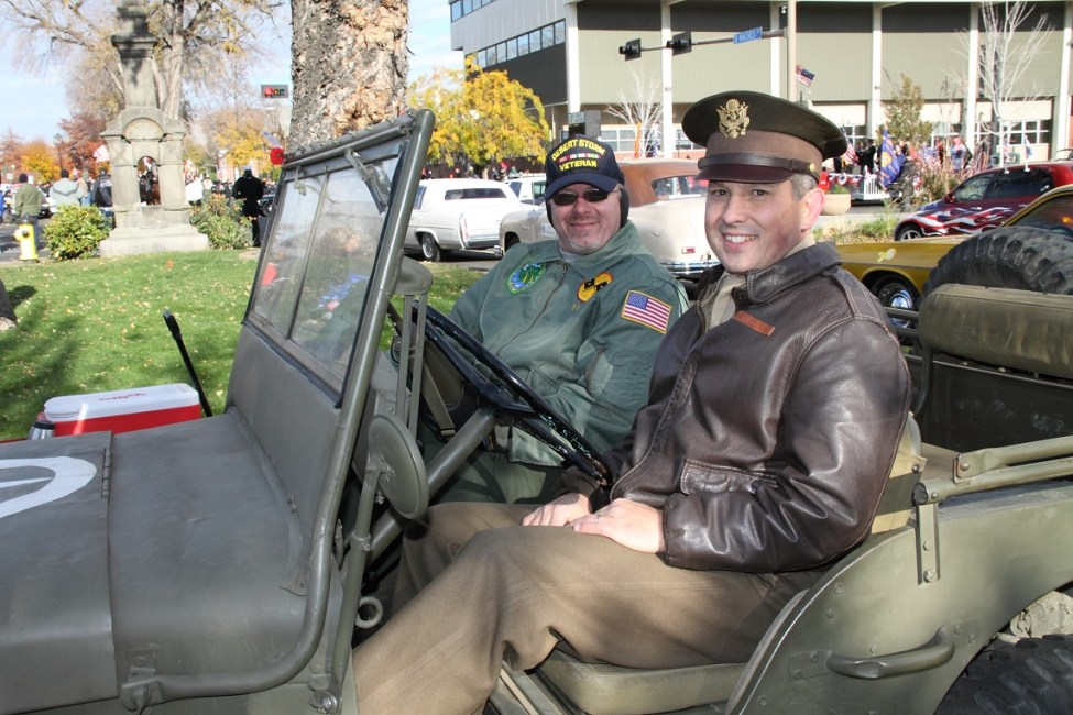 Bryan Dibble in one of many Veterans Day parades over the years