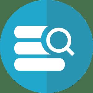 Icône recherche données