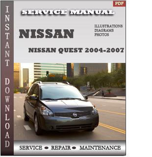 2004-2007 Nissan Quest V42 Service Repair Manual