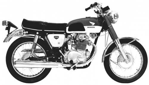 Honda CB350 CB 350 Super Sport Manual
