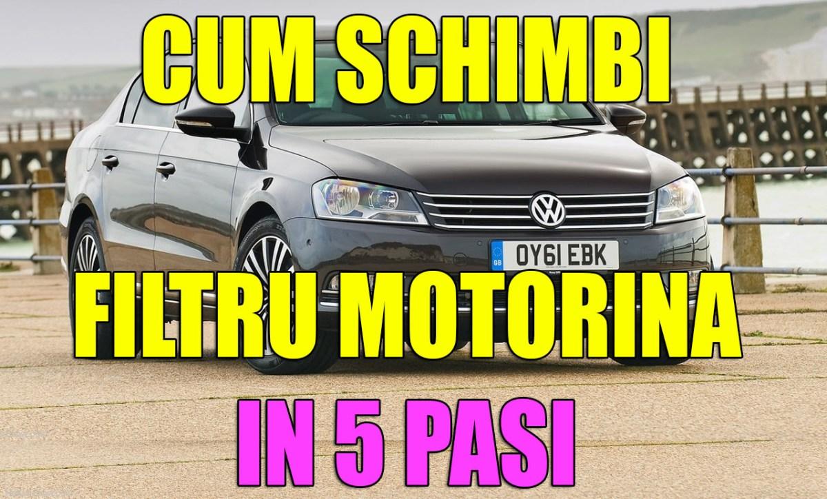 TUTORIAL: cum schimbi / inlocuiesti filtru motorina VW Passat B7 2.0 TDI in 5 pasi simpli