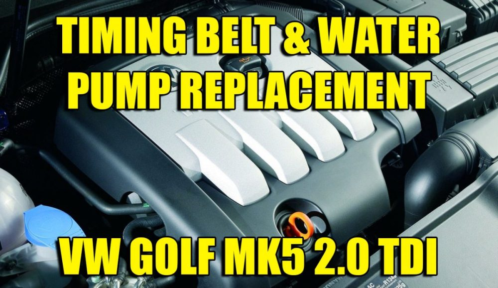 medium resolution of how to change replace vw golf mk5 jetta 2 0 tdi cambelt timing belt and water pump kit