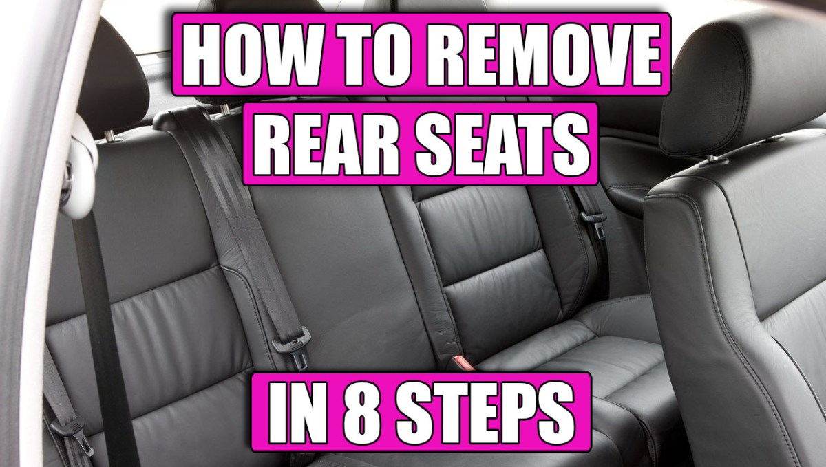 TUTORIAL: How to remove / replace rear / back seats on VW Golf Mk4, Bora in 8 steps!