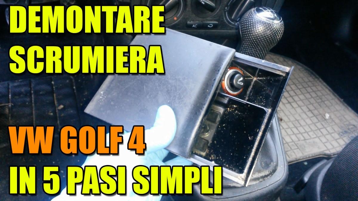 TUTORIAL: Demontare scrumiera fata (de pe consola schimbator) la VW Golf 4, Bora in 5 pasi simpli