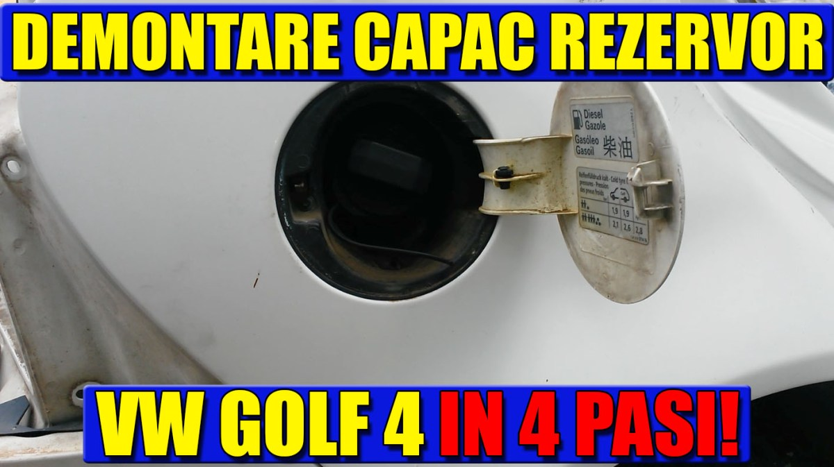 TUTORIAL: demontare capac / usita rezervor VW Golf 4, Bora in 4 pasi simpli