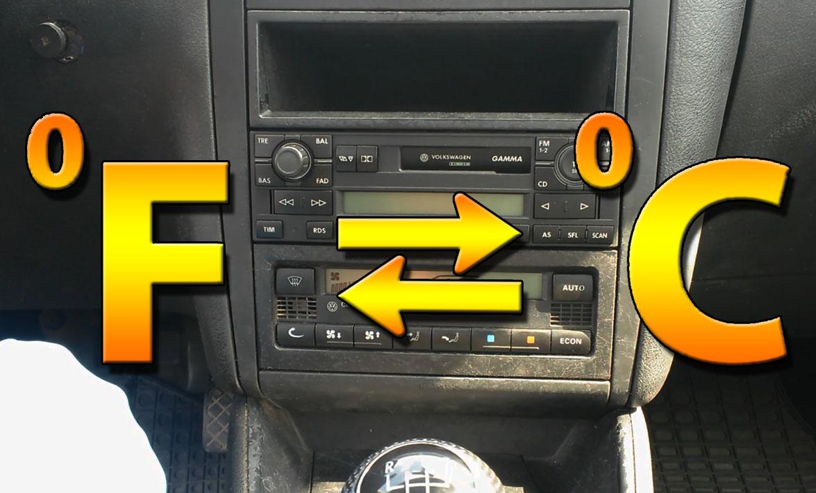 TUTORIAL: Cum schimbi afisasul climatronic din Fahrenheit in grade Celsius si invers la VW Golf 4, Bora in 4 pasi simpli