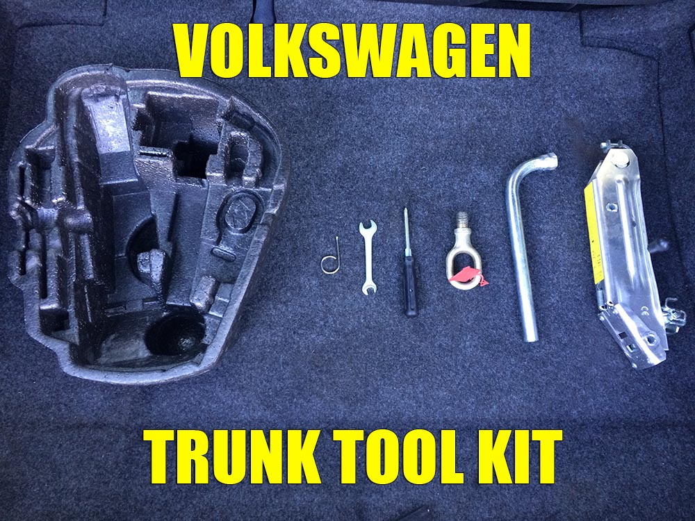 What tools you should have in your trunk tool kit for VW Golf Mk4, Golf Mk5, Jetta, Bora, Passat, Polo, Skoda Octavia 1, Fabia, etc.