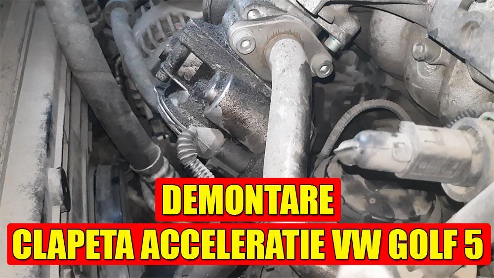 TUTORIAL: demontare clapeta acceleratie la VW Golf 5, Jetta, Passat B6