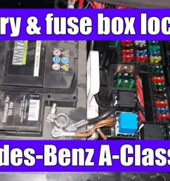 mercedes benz a class w168 battery and main fuse box location [ 1200 x 675 Pixel ]